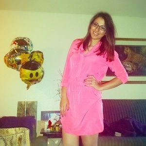Hot pink day dress